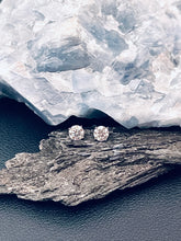 Load image into Gallery viewer, MAYA - 925 1ct Round Brilliant Cut Moissanite Stud Earrings In Silver