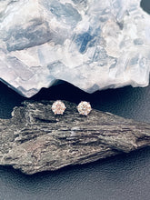 Load image into Gallery viewer, MARIA - Sterling Silver Classic 1ct Round Cut Moissanite Stud Earrings In Silver