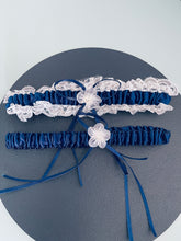 Load image into Gallery viewer, ELSA - 2Pcs Blue Regal Ties Knot Garter