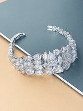 "Load image into Gallery viewer, JULIET - 6.5"" Delicate Multi-CZ Bracelet In Silver - JohnnyB Jewelry"