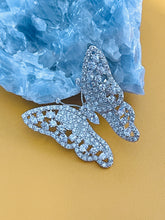 Load image into Gallery viewer, CASSANDRA - Clear Multi-Shaped CZ Butterfly Brooch Pin In Silver