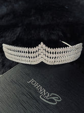Load image into Gallery viewer, CHLOE - Scalloped Marquise-Shaped Crystal Tiara In Silver