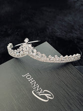 Load image into Gallery viewer, REGINA - Refined CZ Tiara In Silver