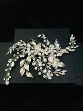 Load image into Gallery viewer, CRISTINA - Bendable Floral With Leaf Hair Clip In Silver