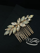Load image into Gallery viewer, CARLEY - Multi-Size Marquise Crystal Hair Comb In Gold