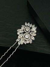 Load image into Gallery viewer, HANNAH - Multi-Shaped Marquise CZ Hair Pin In Silver - JohnnyB Jewelry