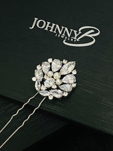 Load image into Gallery viewer, GIA - Three Pearl And CZ Hair Pin In Silver - JohnnyB Jewelry