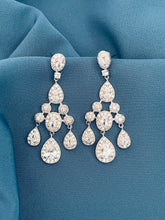 Load image into Gallery viewer, FLORENCIA - Crystal Three-Tier Chandelier Earrings - JohnnyB Jewelry