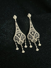 Load image into Gallery viewer, JOSEPHINE - Art Deco Style Chandelier Earrings In Silver - JohnnyB Jewelry