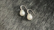 Load and play video in Gallery viewer, ILONA - Pave-Capped Pearl Drop Earrings In Silver