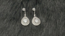 Load and play video in Gallery viewer, ADRIANNA - Tiny CZ Pave Open Teardrop Earrings In Silver