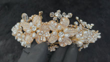 Load and play video in Gallery viewer, ANFISA - Floral Crown With Pearl And Crystal In Gold