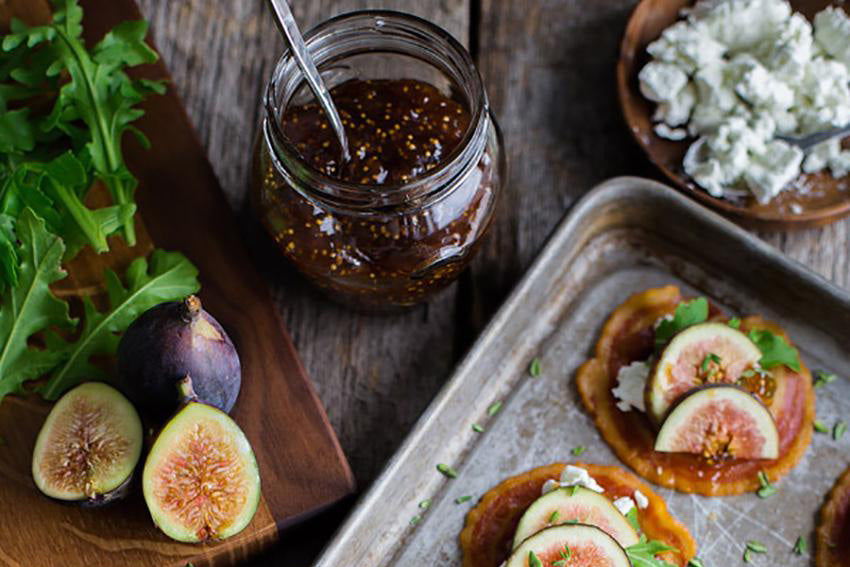 Recipe / Pancetta Crisps with Goat Cheese and Figs