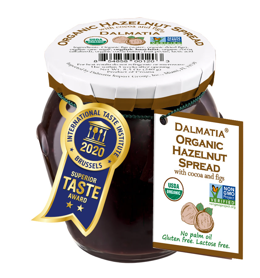 Dalmatia® Organic Hazelnut Spread with Cocoa and Figs