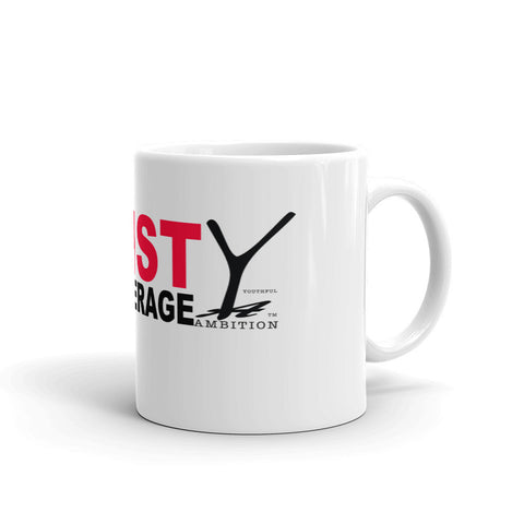 Mug with saying 'Resist Being Average' and the YA logo. - Youthful Ambition YA