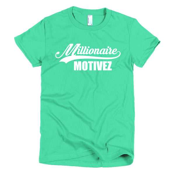Millionaire Motivez Logo Sport Short sleeve women's t-shirt