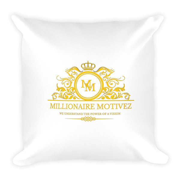 Millionaire Motivez Luxury POV Square Pillow