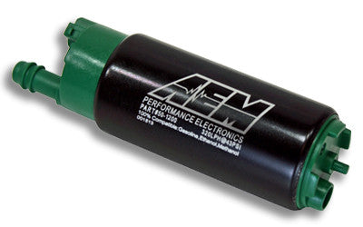 AEM 320LPH E85-Compatible High Flow In-Tank Fuel Pumps (Offset Inlet)