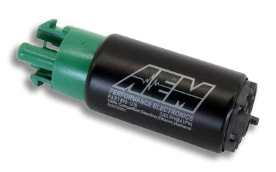AEM 320LPH E85 High Flow In-Tank Fuel Pump (65mm with hooks, offset inlet)