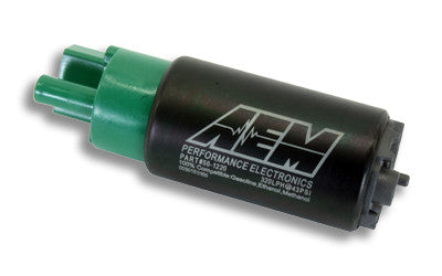 AEM 320LPH E85 High Flow In-Tank Fuel Pump (65mm, offset inlet)
