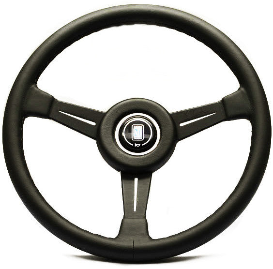 Nardi Classic Leather with Black Spokes (Leather Ring)