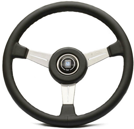 Nardi Classic Leather with Satin Spokes (Leather Ring)