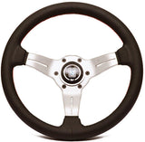 Nardi Deep Corn Perforated Leather with White Anodized Spokes