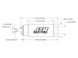 AEM 320LPH E85-Compatible High Flow In-Tank Fuel Pumps (Large Center Inlet)