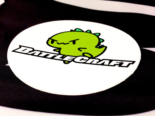 BattleCraft Print Sticker Mascot Circular 3.5""
