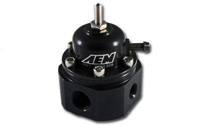 AEM Adjustable Fuel Pressure Regulator (Black), for Universal Application