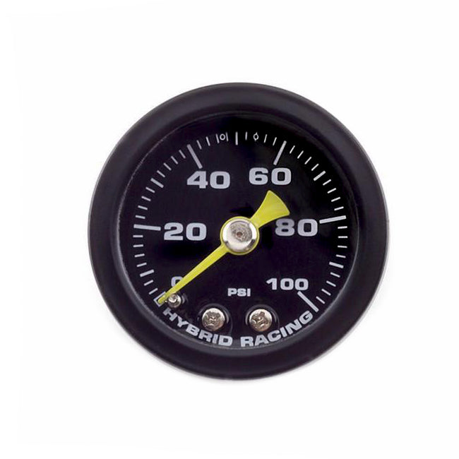 HYBRID RACING Liquid Filled Fuel Pressure Gauge