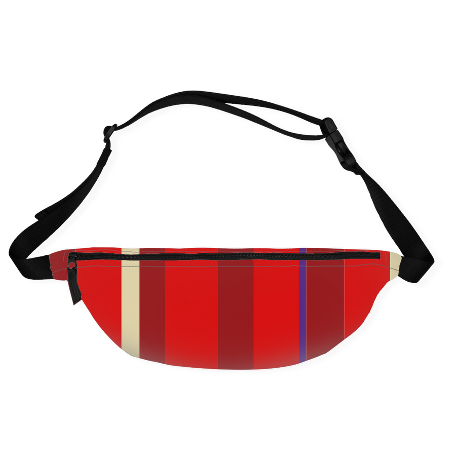Red Stripe Fanny Pack