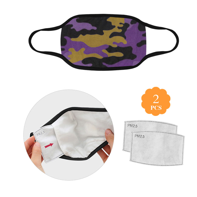 Purple Gold Camo Mask w/2 Filters Direct from Supplier
