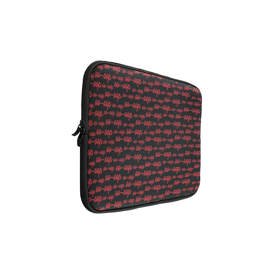 Black Oo-oop Laptop Sleeve (15'')