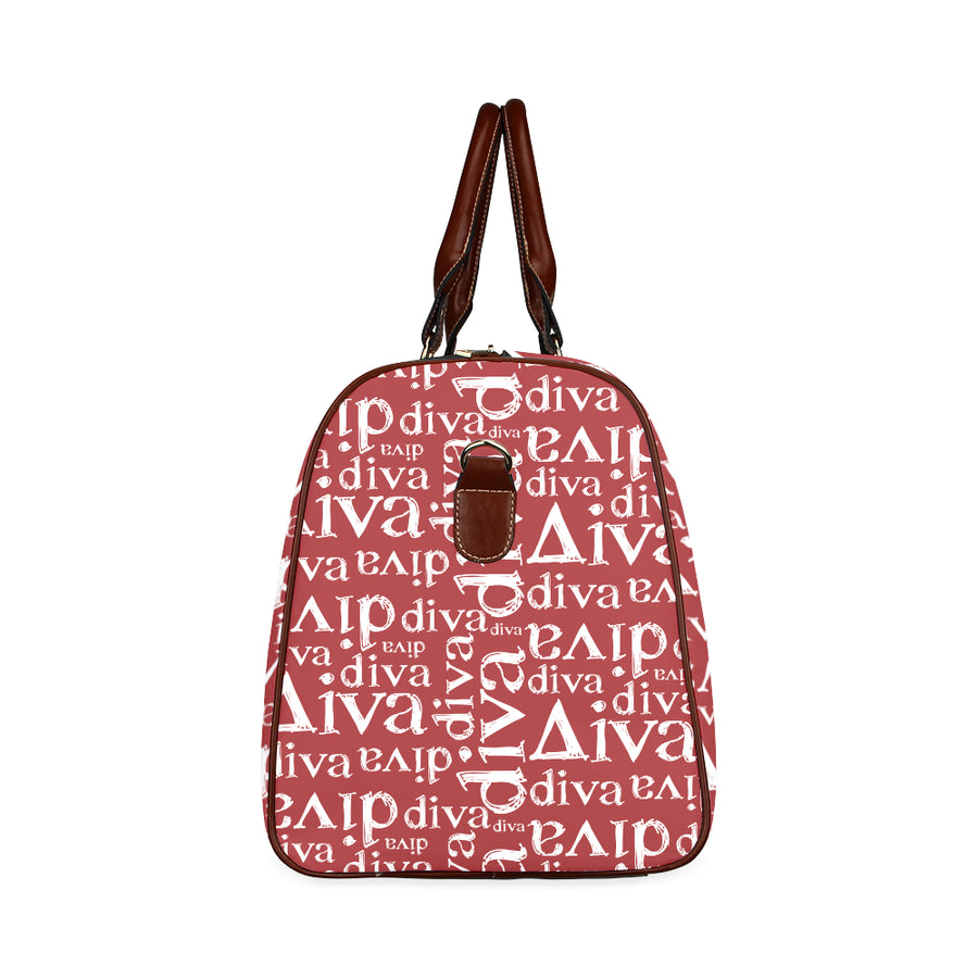 Red Diva Waterproof Duffel Travel Bag