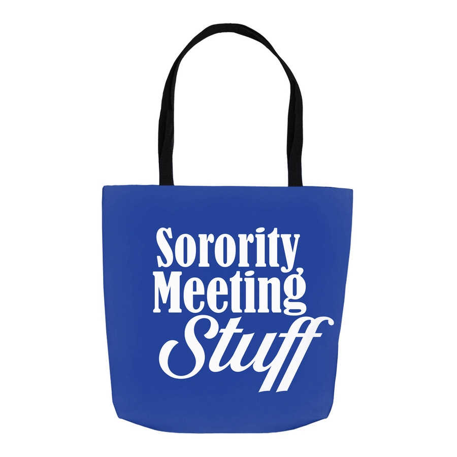 G Royal Blue Sorority Meeting Stuff Tote