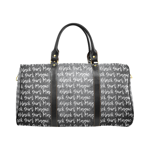 Black Girl Magic Waterproof Duffel Bag