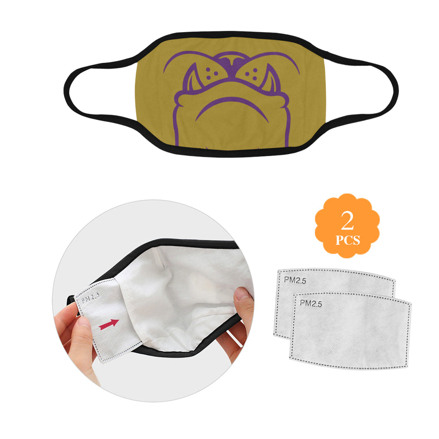 Gold Muzzle Mask w/2 Filters Direct from Supplier