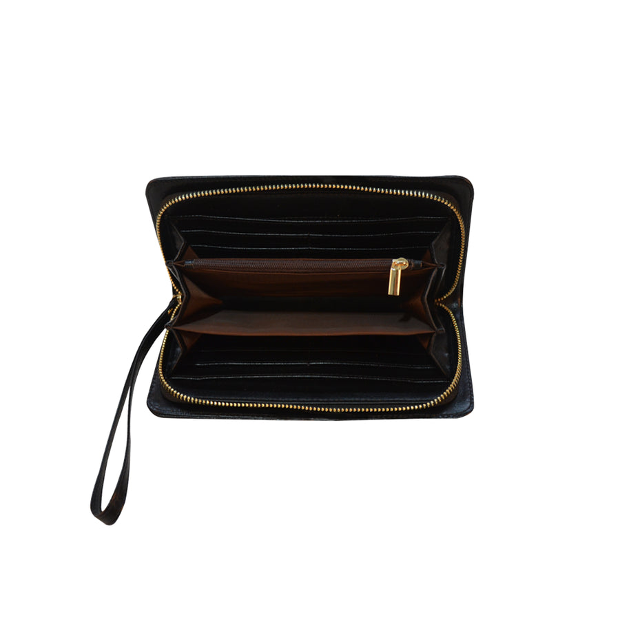 Black Oop Zip Clutch
