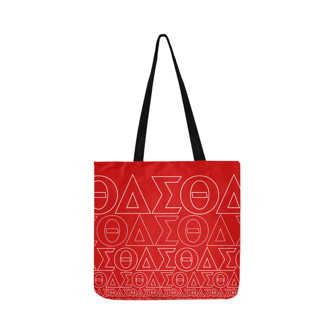 Red DST Symbols Reusable Shopping Bag
