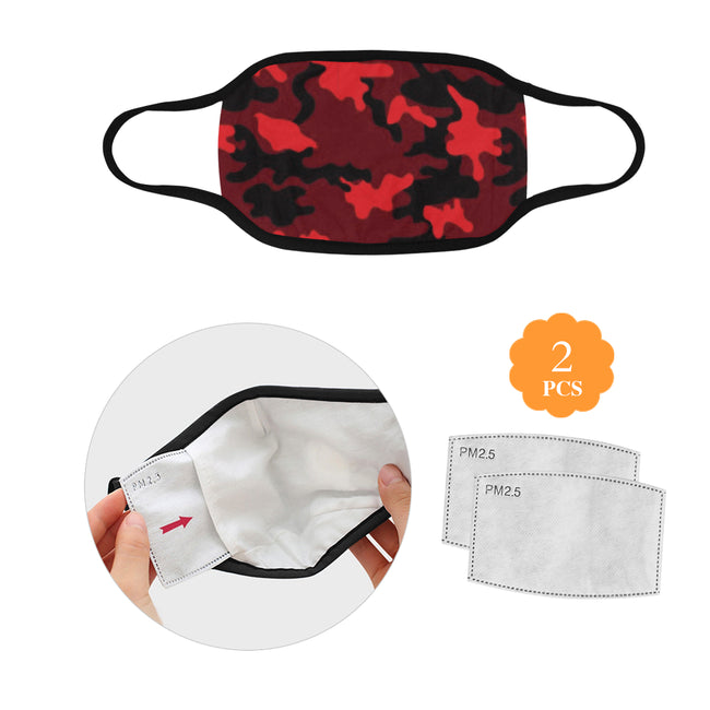 Red Camo Mask w/2 Filters Direct from the Supplier