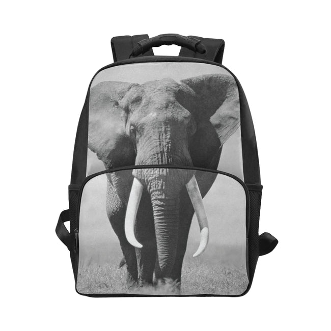 Black and White Elephant Backpack