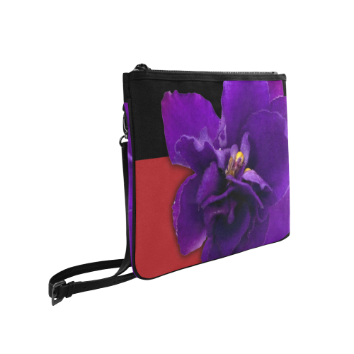 Violet Clutch Bag with Strap