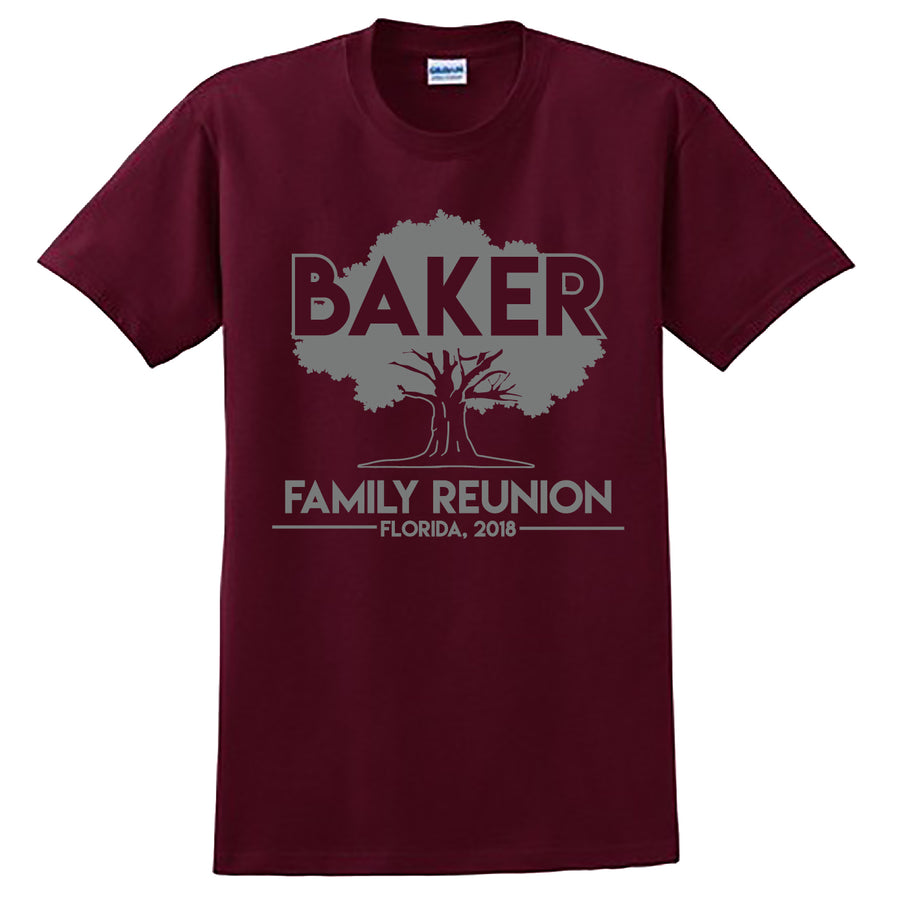 Custom Baker Reunion Tee Options
