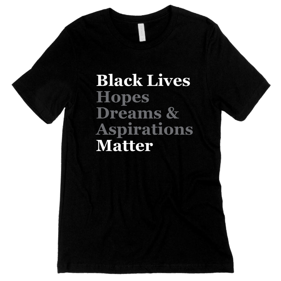 Short Sleeve Black Etal Lives Matter Tee