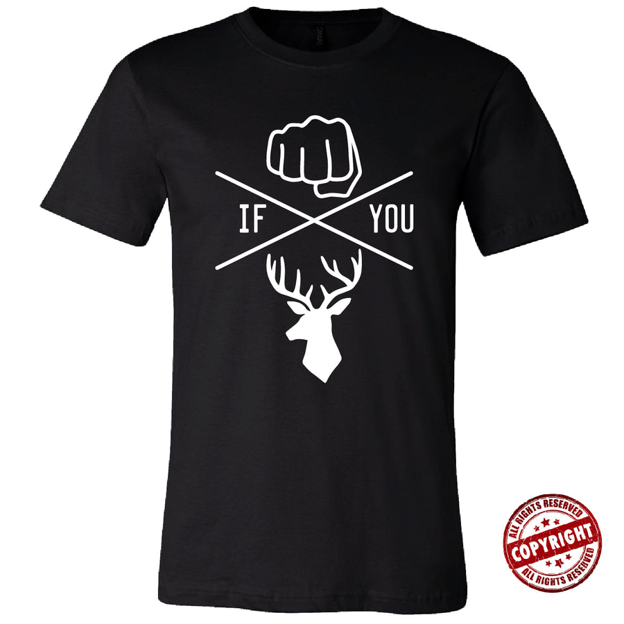Short Sleeve Knuck if you Buck Mens Tee