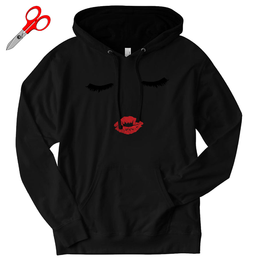Lashes and Lips French Terry Hoodie