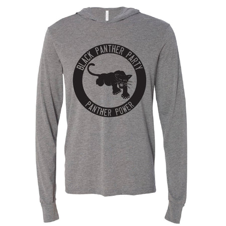 Long Sleeve Black Panther Party Logo Tee Hoodie