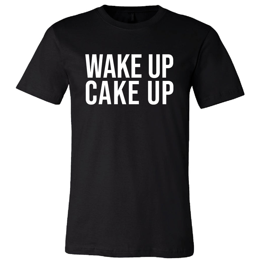 Short Sleeve Wake Up Cake Up Mens Tee