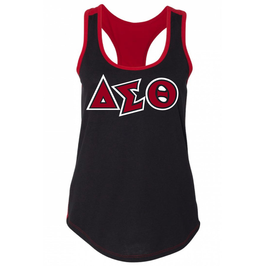 Color Blocked Delta Symbols Tank